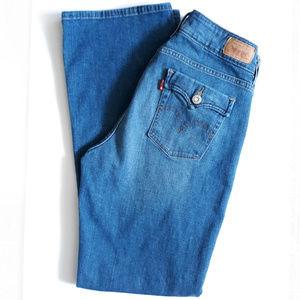 Levi Strauss 529 Blue Jeans  Women's size 8